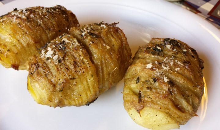 Patate Hasselback al carciofo